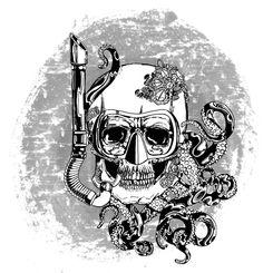 Follow my all original art here @j.bailey_designs #art #design #illustration #digital #color #ink #inks #nature #surfing #scuba #ocean #octopus #skull #marine #nautical #digitalart #drawing #coolartwork #artwork #diving #artist #posters #apparel #pins by j.bailey_designs