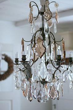.Great little chandelier for master bathroom