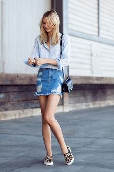 20 Modern Ways to Style a Denim Skirt for Spring