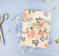 Pretty floral notebooks from Ohh Deer