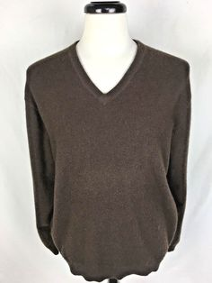 VTG Scottish Cashmere Sweater Mens Black Long Sleeve Scotland L ...
