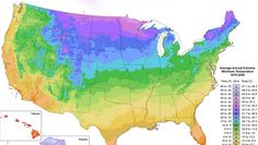 Want to know which plants will grow well in your garden? Follow the map, which is based on the average lowest winter temperature in your area.