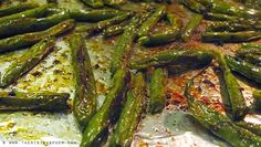 Balsamic Oven-Roasted Green Beans | www.therisingspoon.com 2-3 teaspoons of extra virgin olive oil --I recommend this brand since it passed the EVOO Test--  Sea Salt, to taste Homemade lemon pepper seasoning (or cracked black pepper), to taste Granulated garlic, to taste Crushed red pepper flakes, to taste 2-3 teaspoons of good quality, aged balsamic vinegar