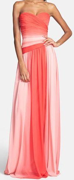 Gorgeous ombre chiffon gown http://rstyle.me/n/ewq8gnyg6