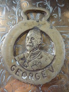 Vintage English George V horse brass harness martingale tack circa 1920's Purchase in store here http://www.europeanvintageemporium.com/product/vintage-english-george-v-horse-brass-harness-martingale-tack-circa-1920s/