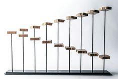 Holz Stahl Konstruktion modernes Design amerikanische Künstler