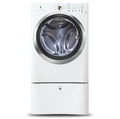 in island white by electrolux in wellsville ny front load washer with wavetouch controls featuring perfect steam cu