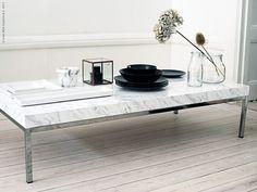 Ikea hack - table with marble contact paper  Stenhårt DIY | Livet Hemma – IKEA