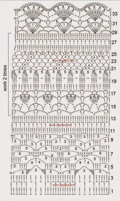 Melissa Melina Crochet: Superbes jupes au crochet longues ou courtes avec leurs grilles gratuites
