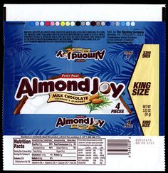 Hershey - Peter Paul Almond Joy - King Size - candy package wrapper - 2012 by JasonLiebig, via Flickr