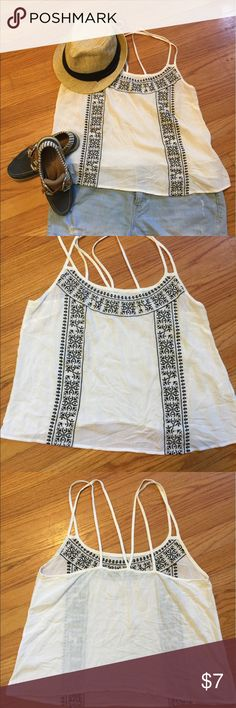 Cute BOHO Lite and Airy Tank #A6C_7 This is a great BOHO Airy style strapping tank.  100% Rayon Xhilaration Tops Tank Tops
