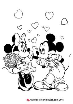 Valentine's Day coloring pages...mickey and minnie