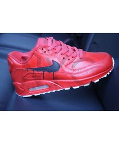 Nike Air Max 90 Candy Drip Red Black Outlet Sale