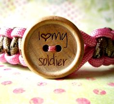 I want one of these <3  I Love My Soldier You Choose your Colors for a by cupidscottage, $14.00