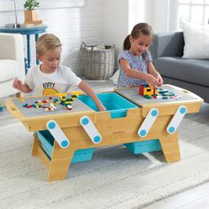 Construct the ultimate fun destination for kids with the KidKraft Building Bricks Play N Store Table. Kids are going to love dreaming up ways to design and build imaginative creations on this full-sized building brick table.Shop for KidKraft Building Table Lego, Play Table, Kid Table, Wooden Kids Table, Interactive Table, Toy Storage Solutions, Easy Arts And Crafts, Lego Storage, Lego Table With Storage
