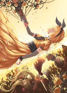 Rin, Miku, Kaito, part of Len's arm lol (Vocaloid) Daughter of Evil Hatsune Miku, Kaai Yuki, Servant Of Evil, Manga Anime, Anime Art, Otaku, Anime Triste, Kagamine Rin And Len, Vocaloid Characters