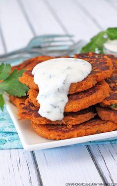 Sweet Potato Pancake Stack - jerryjamesstone.com
