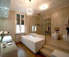 parete pavimento bagno resina spatolata