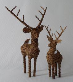 Crate & Barrel Wicker Reindeer RattanDeer Christmas Mantel Table Bucks Set Of 2 Christmas Mantels, Christmas Deer, Ebay Shopping, Crate And Barrel, Reindeer, Crates, Giraffe, Wicker, Moose Art