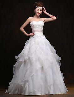 A-line Sweetheart Floor-length Wedding Dress - USD $ 179.99