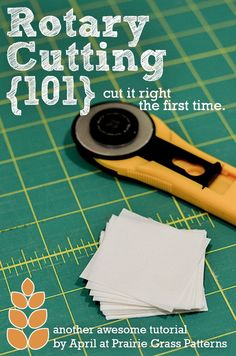 Sewing Tips Helpful Hints Rotary Cutting Tips and tricks for cutting perfectly accurate rotary cutting. Quilting Tools, Quilting Tutorials, Quilting Projects, Sewing Tutorials, Hand Quilting, Dress Tutorials, Quilting 101, Crazy Quilting, Machine Quilting