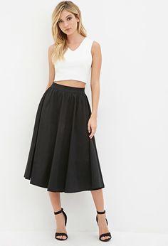 A-Line Midi Skirt - Skirts - Midi & Maxi - 2000161901 - Forever 21 EU English