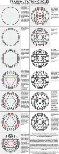 """Sigils & Symbols: """"Part Three: Drawing Transmutation Circles"""". Full Metal Alchemist / Hagane No Renkinjutsushi. Sigils & Symbols: Part Three: Drawing Transmutation Circles. Full Metal Alchemist / Hagane No Renkinjutsushi. Full Metal Alchemist, Pentacle, 鋼の錬金術師 Fullmetal Alchemist, Magic Symbols, Magic Circle, Book Of Shadows, Magick, Pagan Witchcraft, Drawings"""