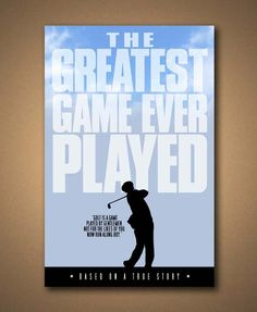 33 Best The Greatest Game Ever Played Images Sports Girls Golf