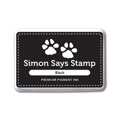 Simon Says Stamp Pigment Ink Pad BLACK INK067 Dads And Grads