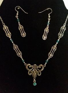 Silver Filigree Necklace and Earrings Set 304 EtsyGifts by Ziplily