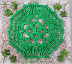 Lacy Crochet: Doily for St Patrick's Day ~ free pattern
