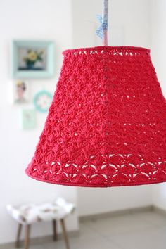 Pantalla lampara crochet lamp shade