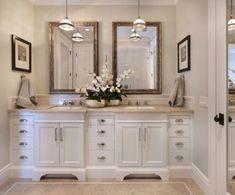 36 Elegant White Bathroom Cabinets Ideas