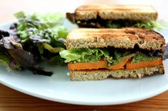 Sweet Potato and Vegan Pesto Salad Sandwich Recipe