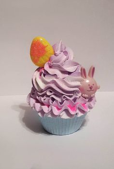 Happy Easter Bunny Chicks Fake Cupcake, Kitchen Home Cupcake Displays,  Props | Fake Cupcakes, Happy Easter Bunny And Display