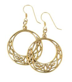 Medieval & Renaissance - Bronze Knotwork Earrings