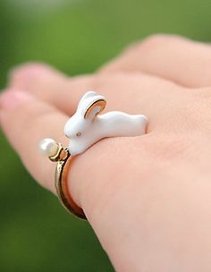 Find More Rings Information about 2014 Fashion Brand Korean 18 k Gold Plated Pearl Cute Rabbit Ring for women, men  Wedding Party Jewelry Wholesale,High Quality Rings from Hawaii Arts Jewelry on Aliexpress.com