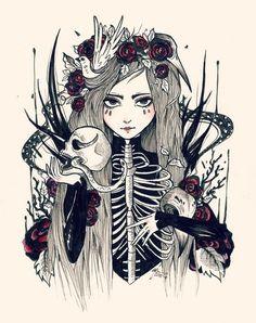 Macabre illustration