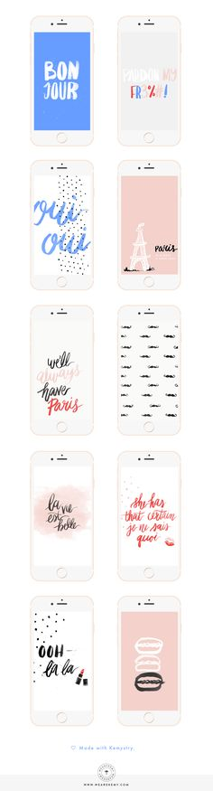Download your free paris inspired desktop and mobile wallpapers over on the blog. - We Are Kemy