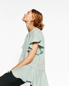 FRILLED TOP-TRENDING PICKS-WOMAN | ZARA United States