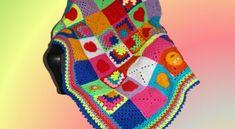 Unsere bunte Decke fertig – Wolle und Handarbeit Bunt, About Me Blog, Blanket, Crochet, Pink, Wool, Handarbeit, Ganchillo, Blankets