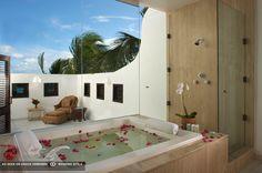 bathtub with petals at cap juluca anguilla british west indies #GOWSRedesign