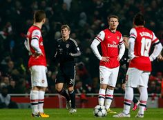 Arsenal Free Kick vs Bayern Munich.