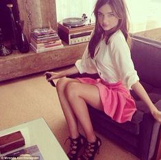 Miranda Kerr Twitter picture l a behind-the-scenes of her new SS14 range for H&M l March, 2014