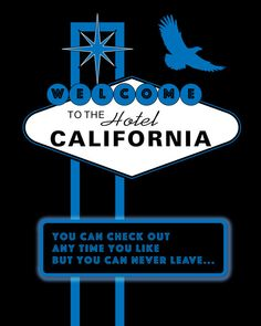 Music Lyric Art Print Hotel California by the Eagles band for the Music Lover on…