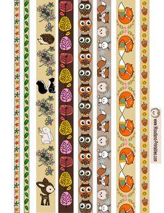 Free Printable Woodland Creatures Washi Tapes