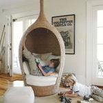 A Cozy Wicker Reading Chair