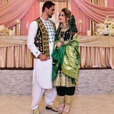 Afghan Wedding, Afghan Dresses, Muslim Couples, Beauty Makeup, Cable, Sari, Fashion, Cabo, Saree