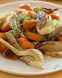 Pan-Roasted Sweet Potatoes with Fennel Recipe on Food & Wine