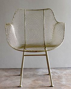 Biscayne Wire Chair in Silver at Upriver Home Round Seat Cushions, Chair Cushions, Patio Chairs, Metal Chairs, Adirondack Chairs, Room Chairs, Outdoor Chairs, Dining Chairs, Outdoor Lamps